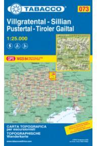 Zemljevid Tabacco 073 Villgratental, Sillian, Pustertal, Tiroler Gailtal