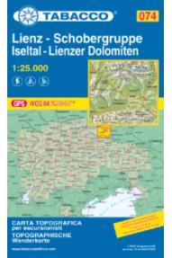 Mappa Tabacco 074  Lienz, Schobergruppe; Iseltal, Lienzer Dolomiten