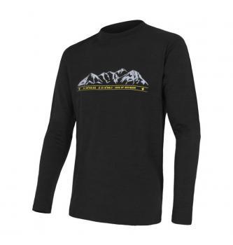 Men Sensor merino Mountains active long sleeve shirt