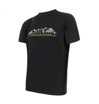 Moška merino majica s kratkimi rokavi Sensor Mountains