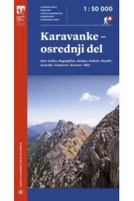 Zemljevid Karavanke - osrednji del - 1:50.000