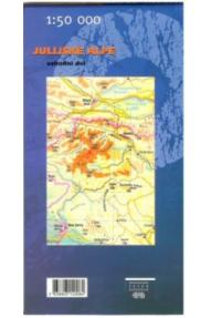 Zemljevid Julijske alpe, vzhodni del - 1:50.000