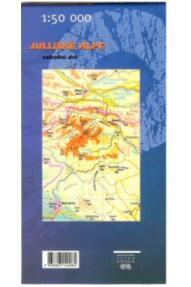 Zemljovid Julijske Alpe, istočni dio- 1:50.000