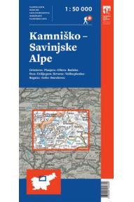 Mappa delle Alpi di Kamnik e della Savanija
