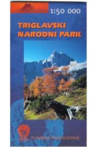 Map of Triglav National Park - 1:50.000