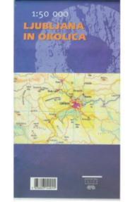 Map of Ljubljana and surroundings - 1:50.000