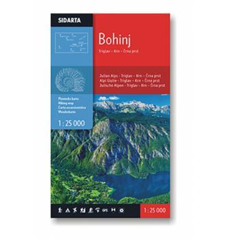 Zemljevid Bohinj 1:25000