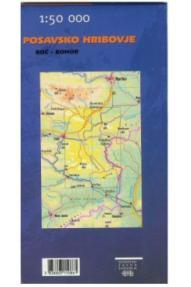 Zemljevid Posavsko hribovje - Boč, Bohor - 1:50.000