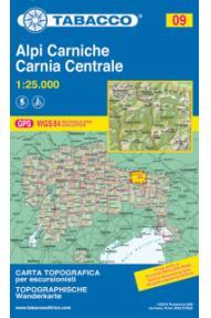 Wanderkarte 09 Alpi Carniche, Carnia centrale - Tabacco