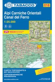 Wanderkarte 018 Alpi Carniche Orientali, Canal del Ferro - Tabacco