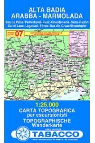 Map Alta Badia, Arabba, Marmolada - Tabacco