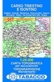 Zemljevid 047 Carso Triestino e Isontino - Tabacco