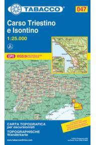 Zemljovid 047 Carso Triestino e Isontino - Tabacco
