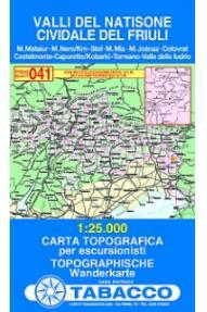 Zemljevid 041 Valli del Natisone, Cividale del Friuli - Tabacco