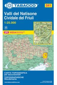 Wanderkarte 041 Valli del Natisone, Cividale del Friuli - Tabacco
