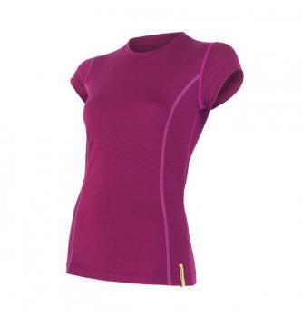 Ženska merino majica s kratkimi rokavi Sensor Active