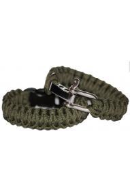 Bushcraft Paracord Bracelets-metal closure