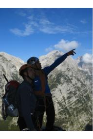 Slovenska smer v severni steni Triglava