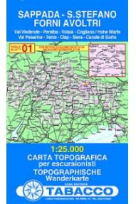 Landkarte 01 Sappada, Santo Stefano, Forni Avoltri - Tabacco