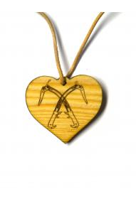 Pendant Ice Axe Hearts