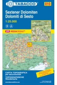 0Zemljovid 10 Sextener Dolomiten/Dolomiti di Sesto