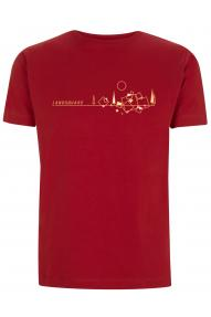 Kurzärmliges T-Shirt Hybrant Land square