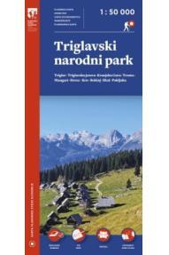 Karta Triglavskog nacionalnog parka - 1:50.000 Plastificirano izdanje