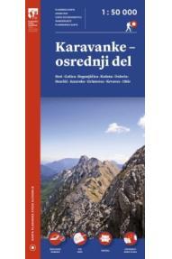 Zemljovid Karavanke, središnji dio - 1:50.000 Plastificirano izdanje