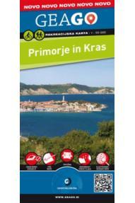 Rekreacijska karta GeaGo Primorje in Kras 1:50.000, plastificirana