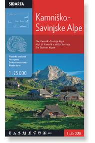 Zemljevid Sidarta Kamniško Savinjske Alpe, 1:25.000