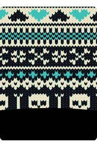 Polartec Skull Blue scarf