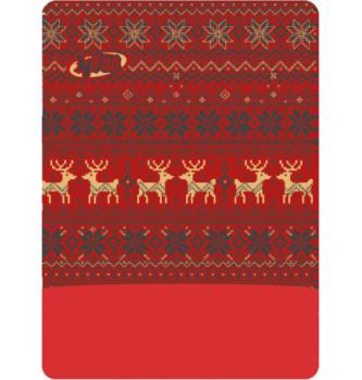 Mehrzweck Bedeckung Polartec Deer Red