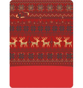 Polartec Deer Red scarf
