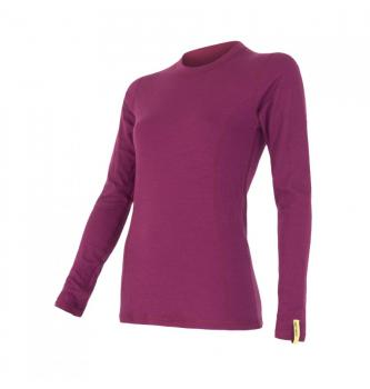 Women long sleeve shirt Sensor merino double face