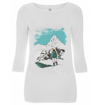 Ženska majica s 3/4 rokavi Winter adventure Hybrant