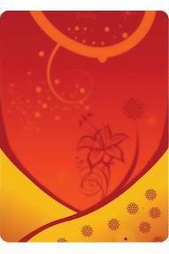 Višenamjenska marama 4fun Yellow Flower