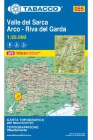 Zemljevid 055, Valle del Sarca, Arco, Riva del Garda-Tabacco