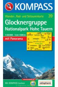 Zemljevid Kompass Glocknergruppe 39 -1:50.000