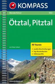 Pohodniški in turistični vodnik Kompass Otztal- Pitztal 902