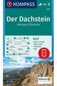 Zemljevid Kompass Der Dachstein, Ramsau, Filzmoos 031- 1:25.000