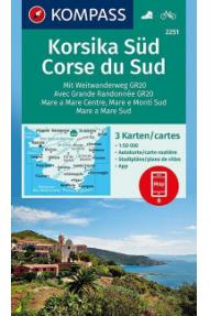 Zemljevid Kompass Korzika jug 2251- 1:50.000