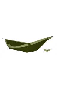 Dvobarvna viseča mreža za dva Ticket to the Moon Army Green-Khaki