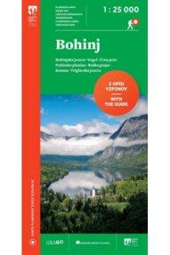 Planinska karta Bohinj 1: 25.000