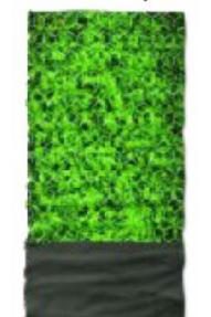 Večnamensko pokrivalo 4fun Polartec Brick Green
