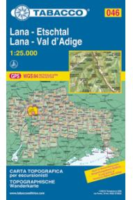 Zemljevid  Tabacco 046 Lana, Val d'Adige / Lana, Etschtal