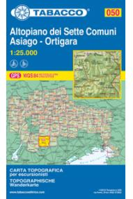 Zemljevid Tabacco 050 Altopiano dei Sette Comuni