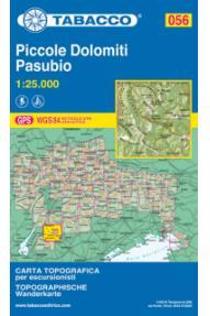 Zemljevid Tabacco 056 Piccole Dolomiti - Pasubio