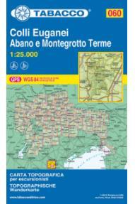 Zemljevid  Tabacco 060 Colli Euganei, Abano e Montegrotto Terme
