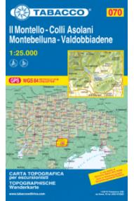 Zemljevid Tabacco 070 Il Montello - Colli Asolani - Montebelluna - Valdobbiadene