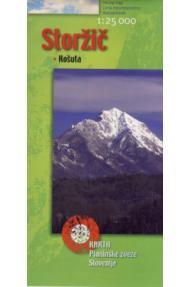 Zemljovid Storžič i Košuta - 1:25.000
